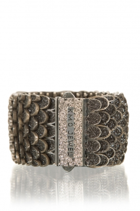 Bracelet Reptile medium | black-silver