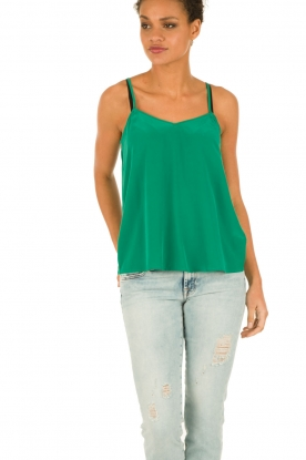 American Vintage |  Silk Top Riswell | green