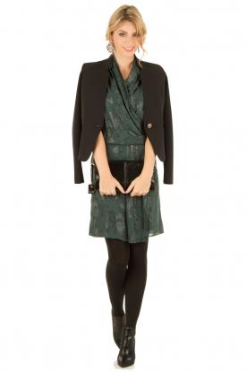 Silk dress Glina | emerald