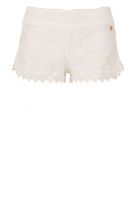OndadeMar |  Lace short Bohemian | white
