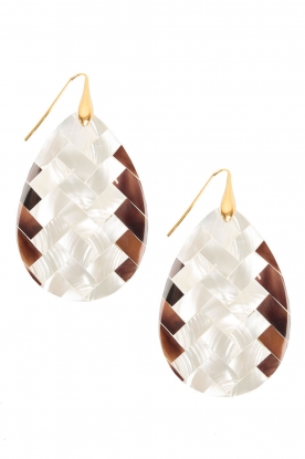 Earrings Resin Drops | white