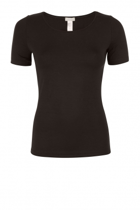 Hanro | T-shirt soft touch | black