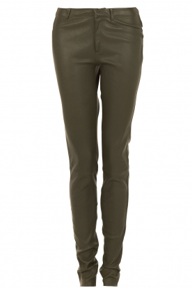 Leather pants Cory | olive green