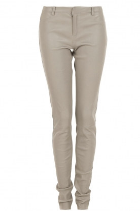 Leather pants Cory | grey