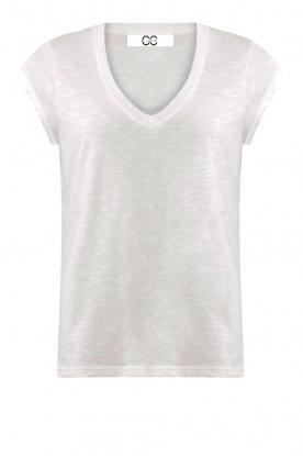 CC Heart |  V-neck T-shirt Vera | white