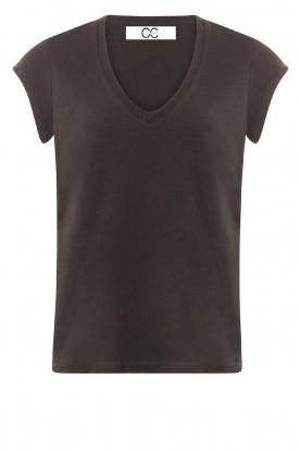 CC Heart    V-neck T-shirt Vera   black