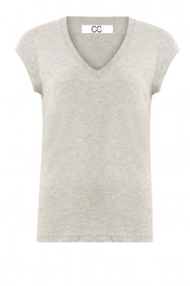 CC Heart |  V-neck T-shirt Vera | grey