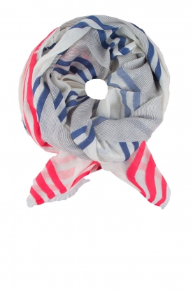 BVL |  Scarf stripe | blue and pink