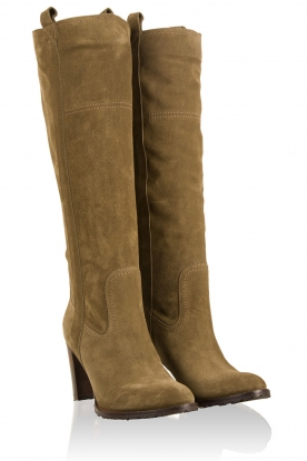 Suede boots Silvo | olive green