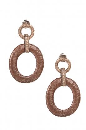 Earrings Dime | brown