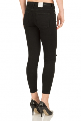 Current/Elliott | Cropped skinny ripped jean The Stiletto | zwart