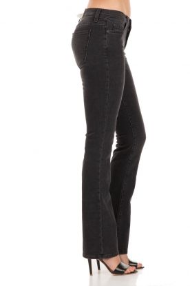 Slim-fit midrise boot cut jeans The slim boot | zwart