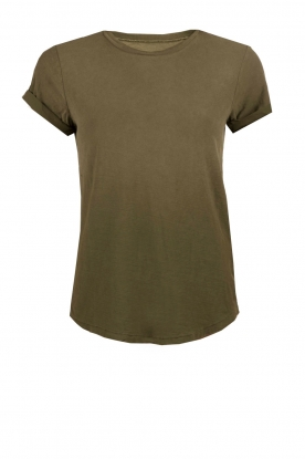 Current/Elliott | T-shirt The Rolled Sleeve Crew | legergroen