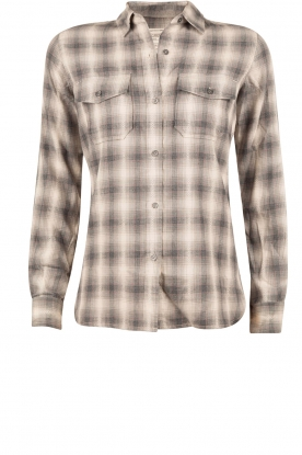 Current/Elliott |  Checkered blouse The Perfect Shirt | grey