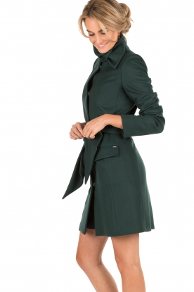 Woolen wrap coat Ville | green