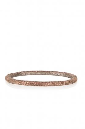 KMO Paris | Armband Oval | bruin