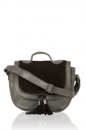 Leather shoulder bag Eldert | grey