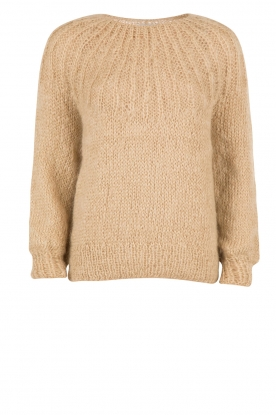 Mes Demoiselles |  Knitted sweater Lueur | stone