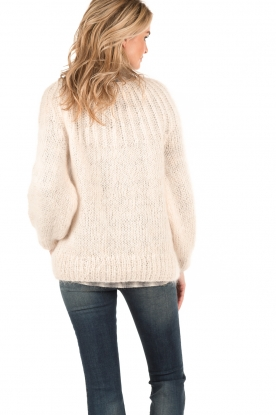Knitted sweater Lueur | light pink