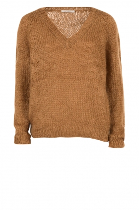 Mes Demoiselles |  Knitted sweater Lutin | brown