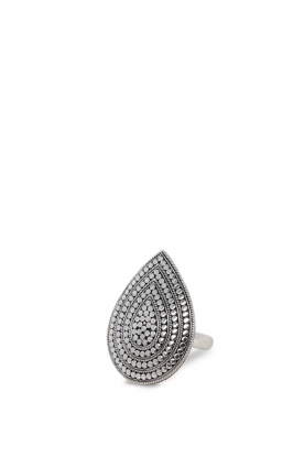 Close to Zen | Zilveren ring Wild Heart Large | zilver