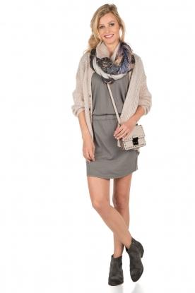 Hunkydory | Jersey jurk Peetz | grijs