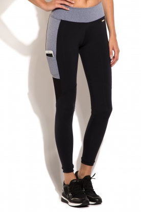 Deblon Sports | Side Pocket sportlegging | zwart en grijs