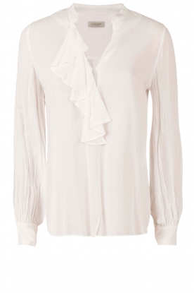 Hunkydory | Top met rushes Glendale | wit