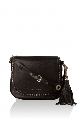 Leather shoulder bag Sadle Brooklyn | black