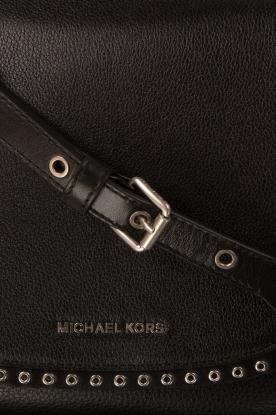 MICHAEL Michael Kors | Leren schoudertas Sadle Brooklyn | zwart
