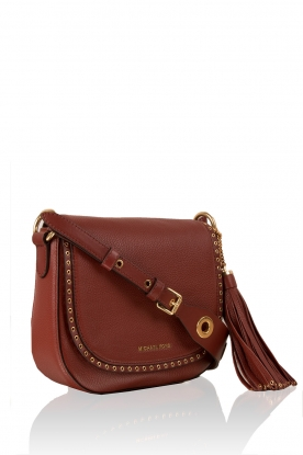 MICHAEL Michael Kors | Leren schoudertas Sadle Brooklyn | brick red