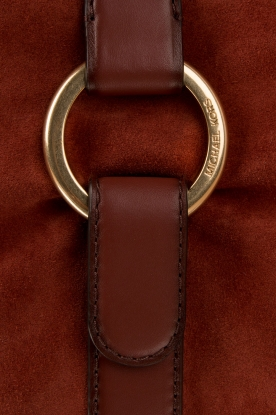 MICHAEL Michael Kors | Leren schoudertas Quincy | brick red
