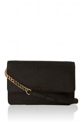 Leather shoulder bag Daniela | black