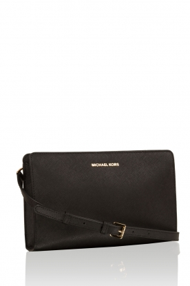 Leather shoulder bag Jony | black