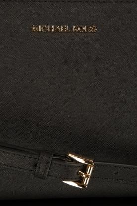 MICHAEL Michael Kors | Leren schoudertas Jony | zwart