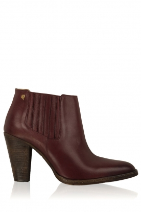 Maluo |  Leather ankle boots Sauvage | red