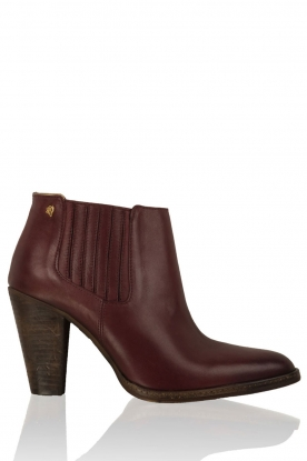 Leather ankle boots Sauvage | red