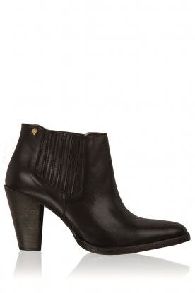 Maluo |  Leather ankle boots Sauvage | black
