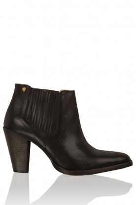 Leather ankle boots Sauvage | black
