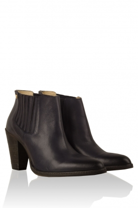 Leather ankle boots Sauvage | blue