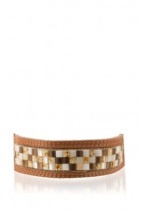 Melz | Leren armband Texas | bruin