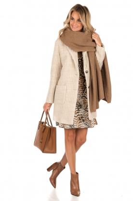 Knitted coat Sam | sand