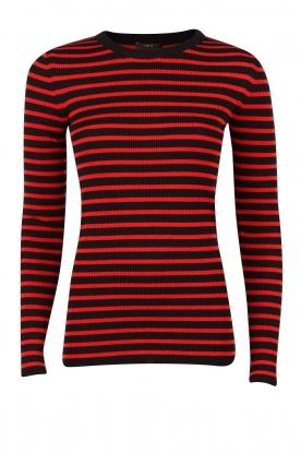 Set | Wollen trui Jumper | rood-blauw