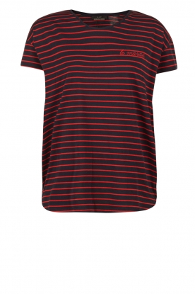 Striped T-shirt Mika | red-blue