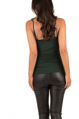 Top with adjustable straps | bottle green