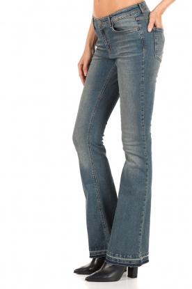 Set | 5-pocket flared jeans Lorna lengtemaat 32 | blauw