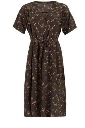 Set | Zijden jurk Poppy | zwart