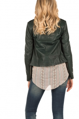 Leather biker jacket Jamie | green