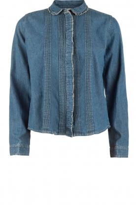 Leon & Harper | Denim blouse Chewie | blauw