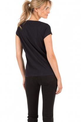 Leon & Harper | T-shirt Peace | zwart